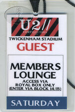 U2 2005 Vertigo Tour Laminated Backstage Pass Twickenham