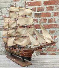 Maquette de bateau en bois La fragata Siglo XVIII Siècle Vintage Décoration...