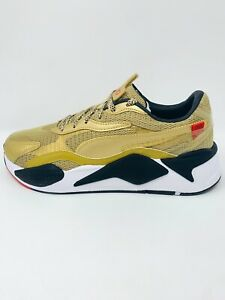 Men's Puma RS-X3 WC Running Shoes Team Gold/White/Black 374808-01 Size 9.5-11