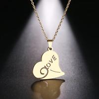 Halskette Damen Love Herz Silber Gold Edelstahl Geschenk Kette Liebe Modeschmuck