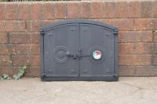 48 x 38 cm cast iron fire door clay / bread oven door / pizza stove thermometer