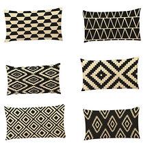 Rectangle Geometric Print Pillow Case Throw Cushion Cover Home Decor Finest