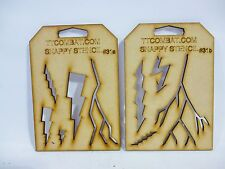Wargames Imperial White Marines Scars Lightning Strike Snappy Stencils #31a/b