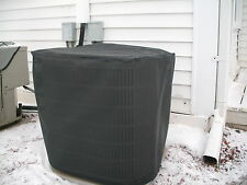 HeavyDuty Beathable Tight Mesh Winter Full Air Conditioner Cover- Blk -28x28x28h