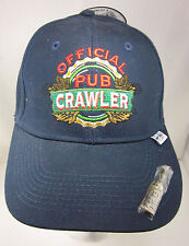 Embroidered Official Pub Crawler Pop A Top Bottle Opener in Baseball Cap Hat NEW
