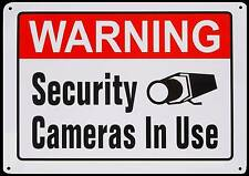 LARGE METAL Home Surveillance Store Security CCD Camera System Warning Yard Sign