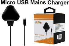 UK Black Mains Charger Wall Plug Micro USB Cable For Amazon Kindle Fire HD Paper