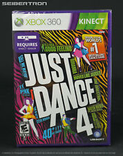 JUST DANCE 4 Xbox 360 Factory Sealed Game BRAND NEW - Requires Kinect to play