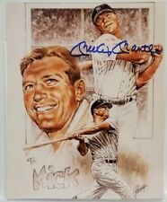 MICKEY MANTLE SIGNED PETRONELLA 8x10 LITHO / PHOTO - NEW YORK YANKEES AUTO
