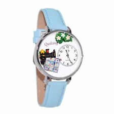 Baby Blue Leather Watch Whimsical Watches Unisex U0450012 Quilting