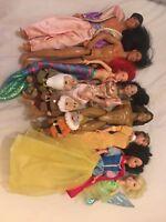 Job Lot Of Disney Mattel Barbie Dolls From 90s. Inc Aladdin, Tinkerbell, Mulan