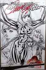 AMAZING SPIDERMAN 15 V4 J SCOTT CAMPBELL SIGNED B&W SKETCH VARIANT COA SOLD OUT
