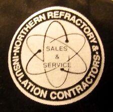 NORTHERN REFRACTORY snapback trucker cap Insulation Contractors atomic logo hat