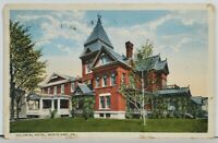 PA Colonial Hotel North East Pennsylvania 1917 Postcard M5