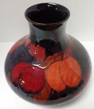 Large Vintage Rare Moorcroft Flambe Wisteria Plum Bulbous Vase