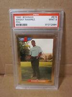 1992 Bowman #676 Manny Ramirez RC Gold Foil PSA 9 MT Mint Indians Rookie MLB MVP