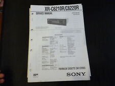 ORIGINALI service manual Sony xr-c6210r/c6220r