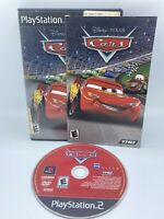Cars (Sony PlayStation 2, 2006) Complete CIB Disney Pixar 1 THQ Movie Video Game