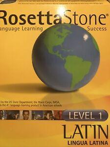 ROSETTA STONE LATIN Level 1 Lingua Latina Homeschool Award Winning!