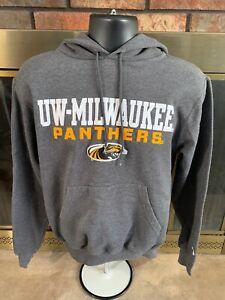 Champion Milwaukee Panthers NCAA Hoodie Hooded Sweatshirt Mens Size Small Gray