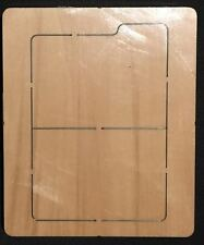 File folder wooden die fits Sizzix, Big shot , Big shot pro machines