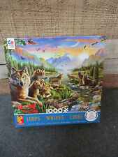 "CEACO Jigsaw Puzzle ""WOLVES"" 1000 Pieces Made in USA"