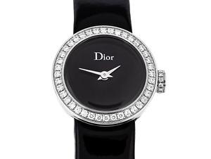DIOR - LA MINI D DE DIOR Diamond Steel Ladies Quartz 19.00mm.Watch Box & Papers
