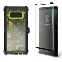 Samsung Galaxy Note 8 Defender Case w/ Screen & Clip fits Otterbox Green Tree