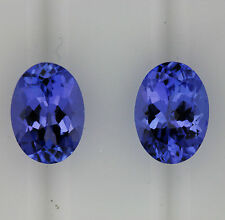 TANZANITE 1.92ct!! NATURAL MATCHING PAIR EXPERTLY FACETED +CERTIFICATE AVAILABLE