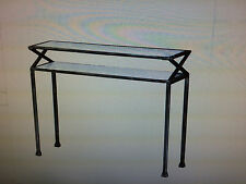 CST14940 BLACK / GLASS METAL SOFA TABLE