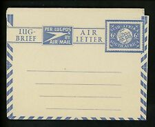 Postal Stationery H&G #FG7a South Africa airmail letter sheet 1948 Vintage
