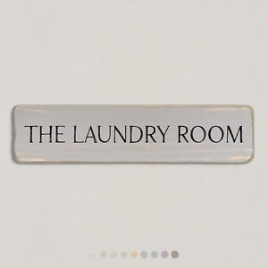 THE LAUNDRY ROOM Vintage Style Wooden Sign. Shabby Chic Retro Home Gift. S2