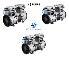 New Lake Fish Pond Aerator Pump Compressor 3 Cfm 72 Psi 12hp X3 Pumps