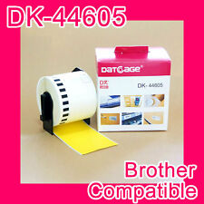 20 rolls of Compatible Brother DK-44605 Yellow Continious Removable Paper Tape