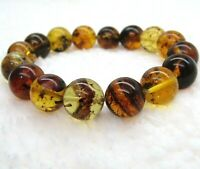 DOMINICAN AMBER Bracelet Beads Natural Gem Stone GENUINE 13.46 mm (22.1 G)D593