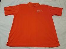 University Of Miami Ultra Club Cool and Dry Men's Orange Shirt Size L