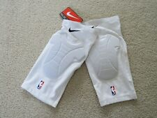 NIKE Authentic NBA Players Worn Knee Pads White Men L/XL NEW^