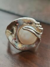 Sterling silver 925  Pearl ring size 6.5 made in Isreal