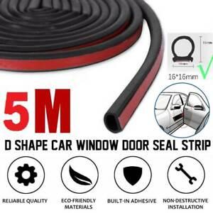 5m Autotürdichtung D- Typ Gummidichtung Selbstklebend Dichtband Kfz Tür Fenster