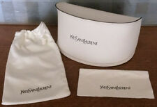 YSL Yves Saint Laurent White soft Sunglasses Glasses Case/Cleaning Cloth/Pouch