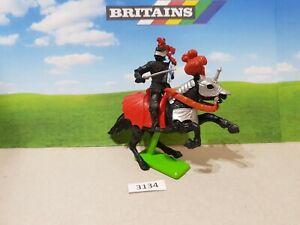 Britains Deetail Crusader Mounted Black Knight (lot 3134)