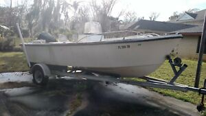 1985 Proline Center Console 18' Boat & Trailer - Florida
