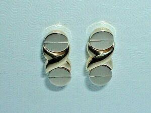 14K TWO TONE GOLD DANGLE EARRINGS