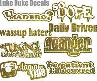 Lady Driven Decal Sticker tuner street stance JDM Euro drift girl racer hoon v2