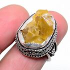 Aaa+++ Citrine Rough 925 Sterling Silver Jewelry Ring s.6 LR-7512