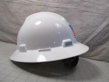 Msa A Vgd V Gard Protective Hard Hat With Glaregard Fastrac 3 Suspension New