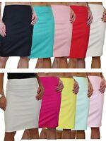 """Stretch Skirt 22/"""" Long Smart Casual Slight Sheen Dusky Pink NEW 6-18"""