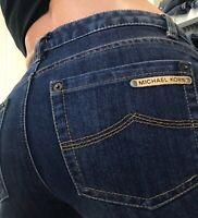 Michael Kors Boot Cut Mid Rise Womens Denim Blue Jeans  size 4 x 29