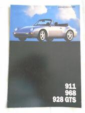 FOLLETO de rango de Porsche 1994 mercado de Estados Unidos