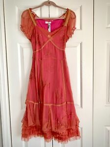 """Gorgeous """"Nataya"""" dress New With Tags! Terracotta color with ruffles Size Medium"""